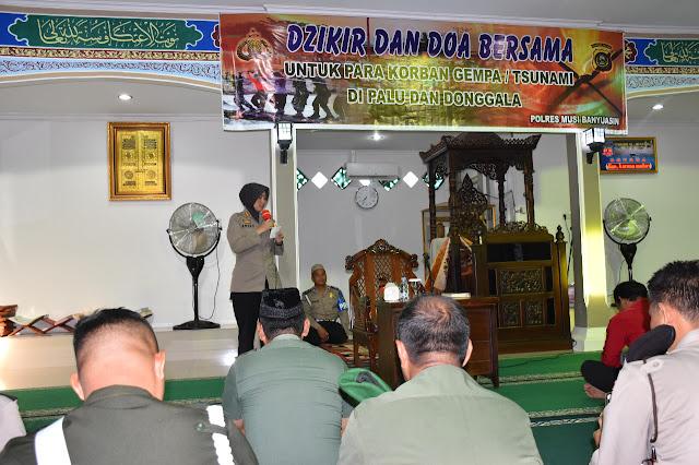 Polres Muba Gelar Dzikir dan Doa Untuk  Korban Gempa di Palu