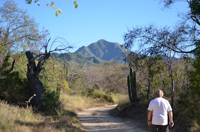 Anders on the hike around Rancho Verde RV Haven