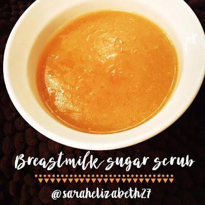 sugar scrub, breastmilk lotion, breastmilk sugar scrub, crunchy mom, crunchy mom recipes, breastfeeding mom,