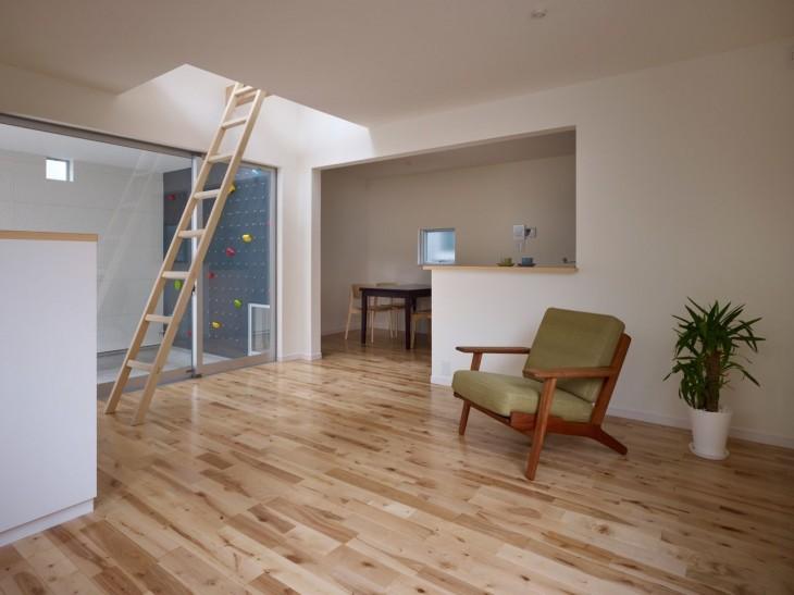pared para escalar en una casa