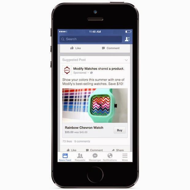 Facebook測試 「購買」按鈕,站內輕鬆完成購物