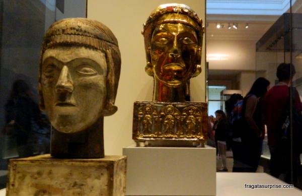 Máscaras etruscas no Museu Britânico - Londres