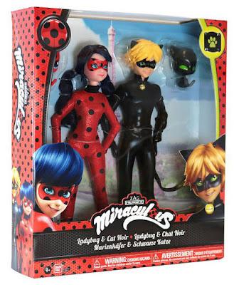 JUGUETES - Prodigiosa . Las Aventuras de Ladybug  Pack 2 Muñecos : Ladybug & Cat Noir  Bandai | Serie Television | A partir de 4 años  Comprar en Amazon España