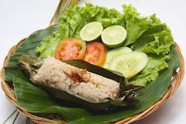 Nasi bakar teri tanpa santan