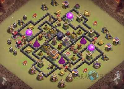 Base Hybrid TH 8 Clash Of Clans Terbaru Tipe 1