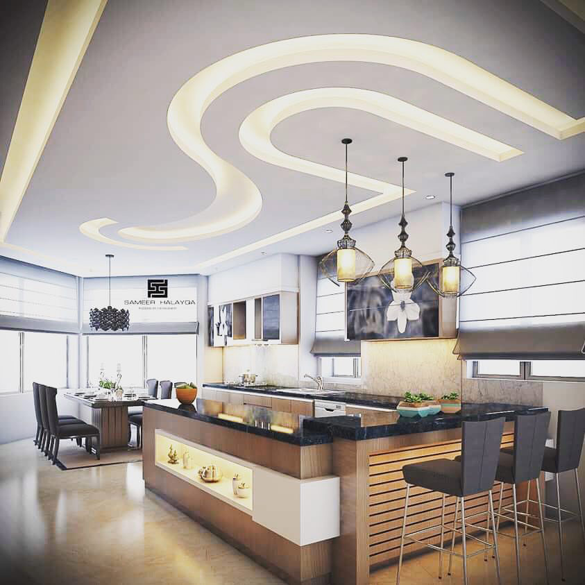 Houzify Home Design Ideas: New False Ceiling Design Ideas For Kitchen 2019