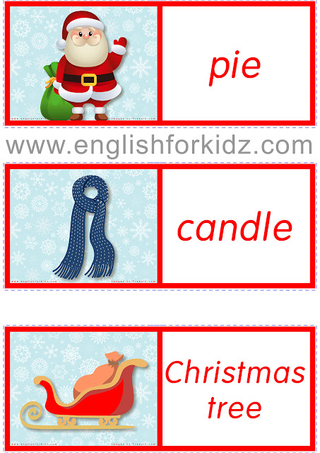 Christmas dominoes for English teachers