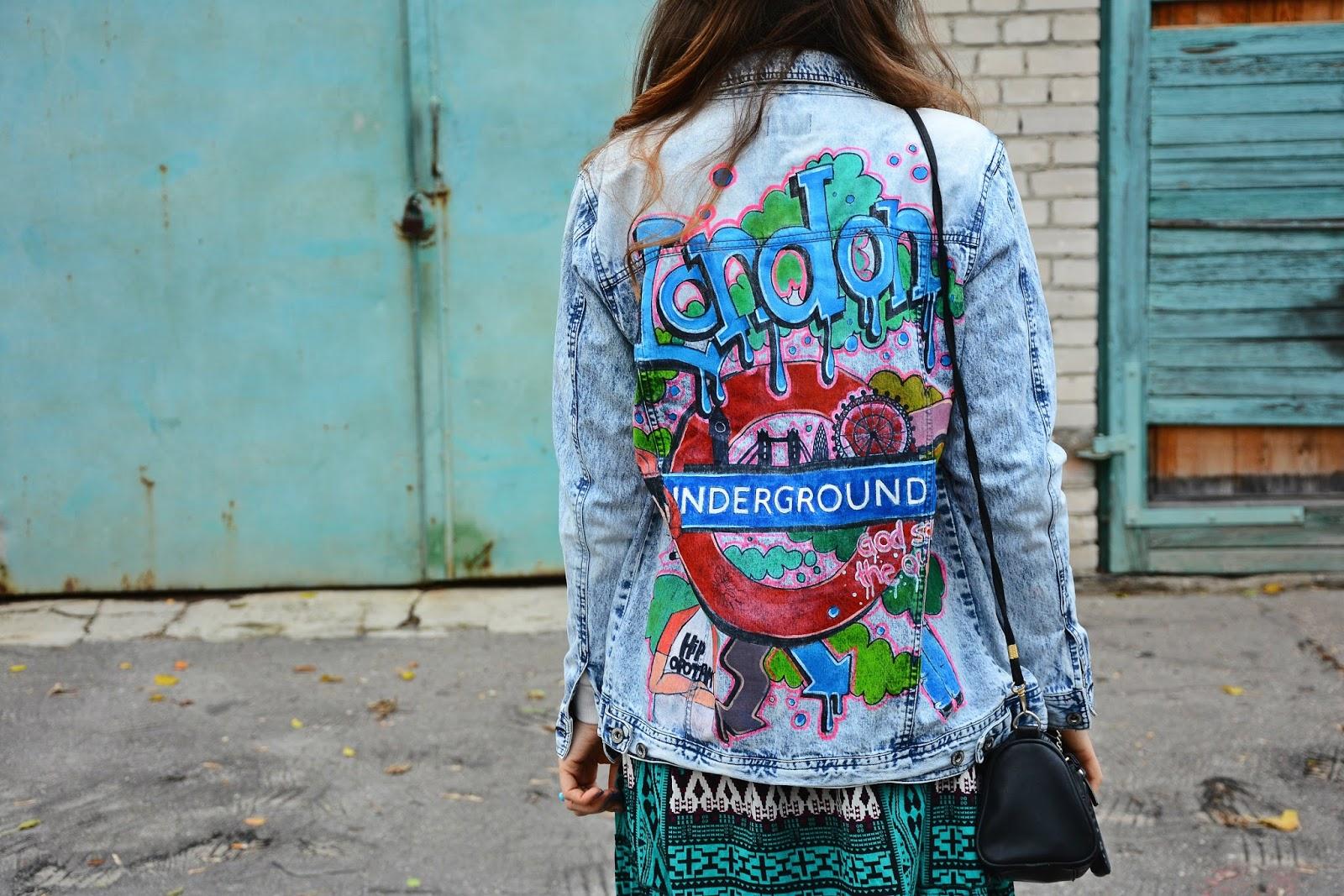 London - painted jacket