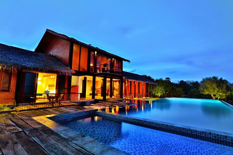 Kalpitiya holiday bungalows for rent luxury suites with - Bungalows with swimming pool in sri lanka ...