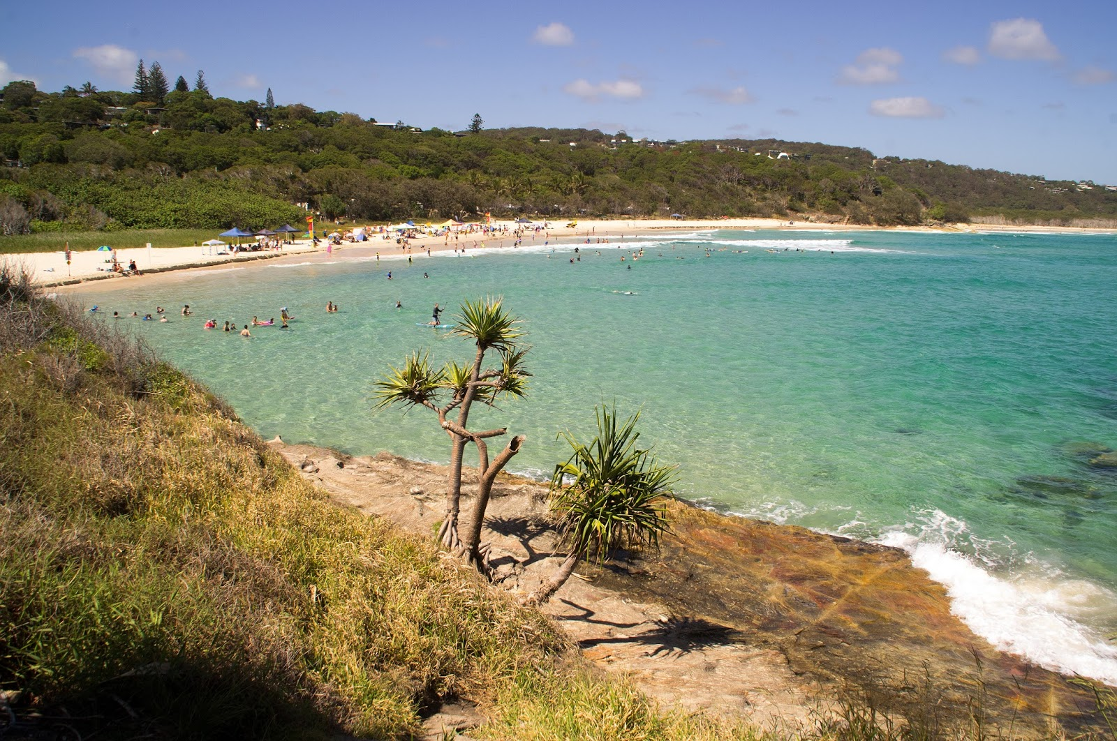 Cylinder Beach from lookout Stradbroke Island