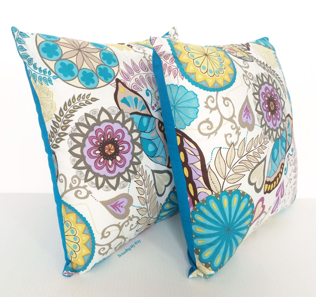 Cushion Covers with an Enclosed Zipper ~ Threading My Way