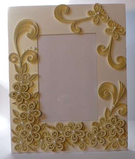 Let S Create Decorated Foam Board Quilling Wedding Photo Frame