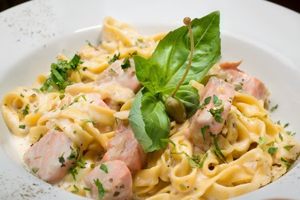 pasta with salmon, seafood pasta