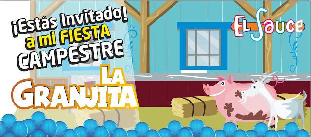 Invitacion digital granero azul paquetes fiesta cumpleaños Bogota
