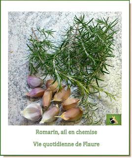 Vie quotidienne de FLaure : Poulet au romarin et ail en chemise