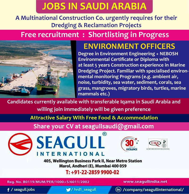 Environment Officers Required for Saudi Arabia