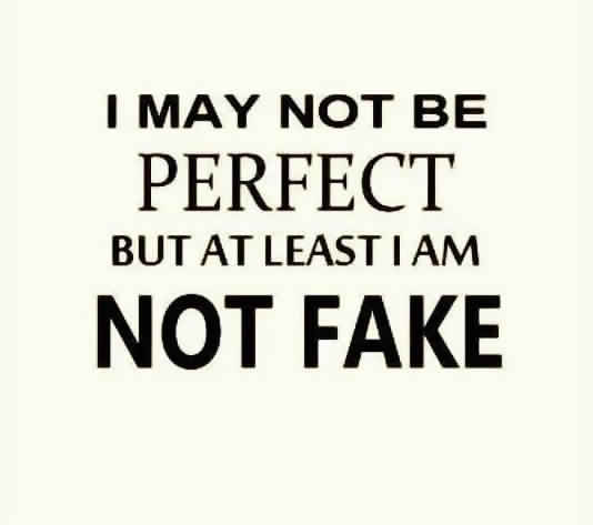 i am not prefect but i am not fake