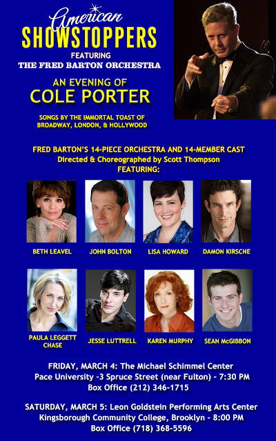 Mar. 4 & 5: American Showstoppers: An Evening with Cole Porter, featuring The Fred Barton Orchestra