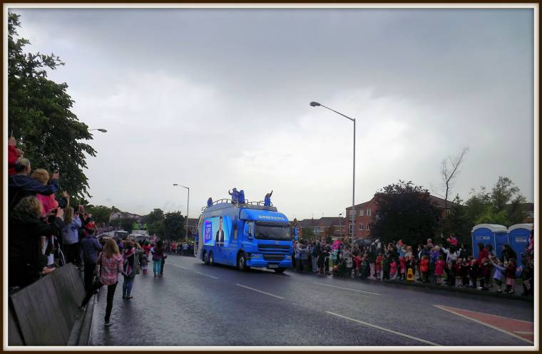 Olympic Torch Relay in Mansfield, Nottingham