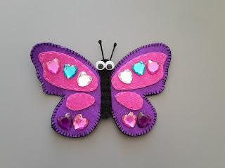 motyl z filcu