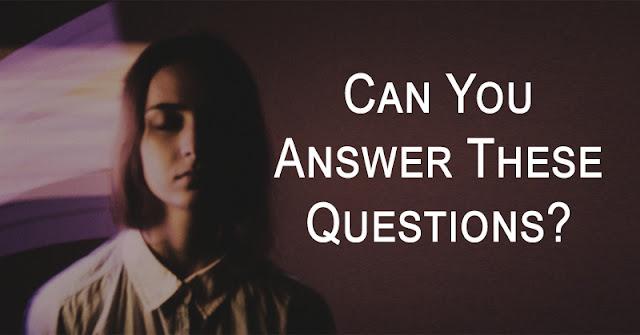 2 أسئلة يمكن الإجابة عليها فقط من قبل المنفصم أو العبقري !