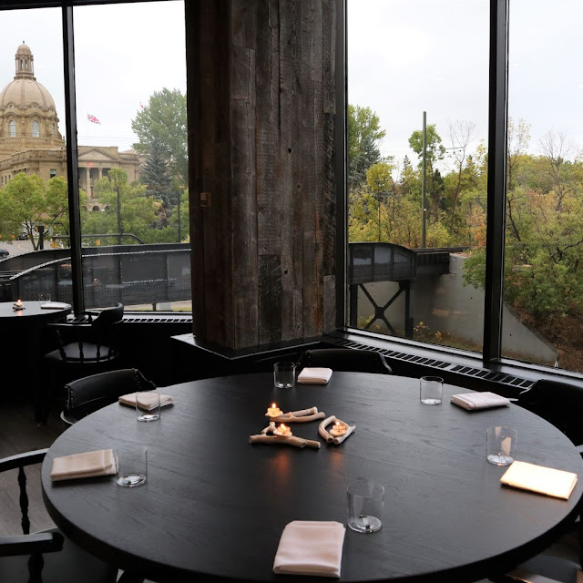 gorgeous view of the Edmonton Legislature from the Butternut Tree Dining Room