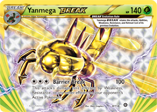 Yanmega BREAK Steam Siege Pokemon Card