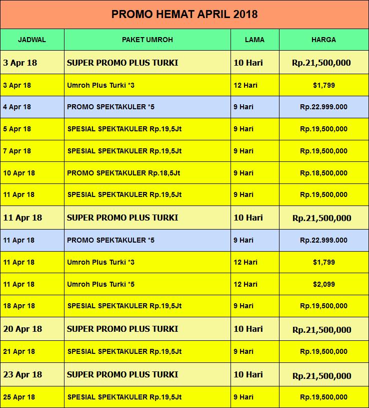 Jadwal Umroh April 2018 Alsha Tour