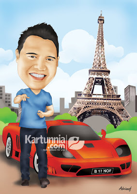 kartun background mobil ferari