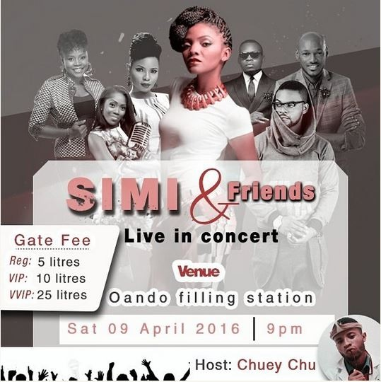 Hilarious: Check Out This Concert in Lagos Where Fuel is the Gate Fee (Photo)