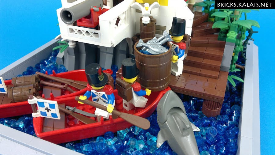 8. ...where shark and seagull want to get fresh fishes.
