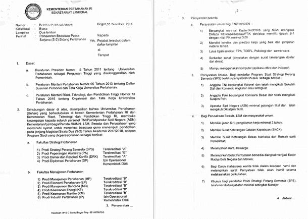 Penawaran Beasiswa Pasca Sarjana (S2) Bidang Pertahanan UNHAN untuk PNS/ASN, POLRI, TNI dan Masyarakat Umum