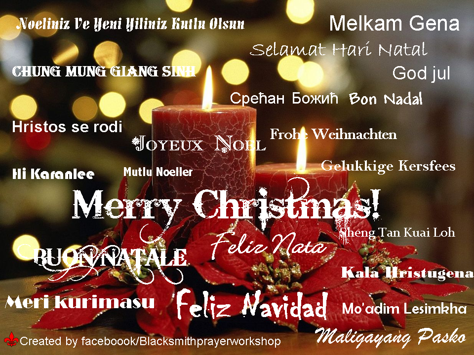 Merry Christmas In Different Languages.Blacksmith Prayer Workshop Merry Christmas In Different