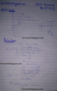 F.Sc ICS Notes: Physics XII: Chapter 18 Electronics Numerical Problems by Asad Hussain 2