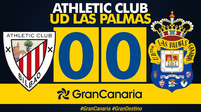 Marcador final Athletic Club 0-0 UD Las Palmas