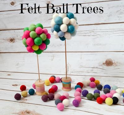 Felt Ball Trees.