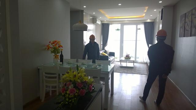 Toàn cảnh không gian phòng khách Gemek Premium