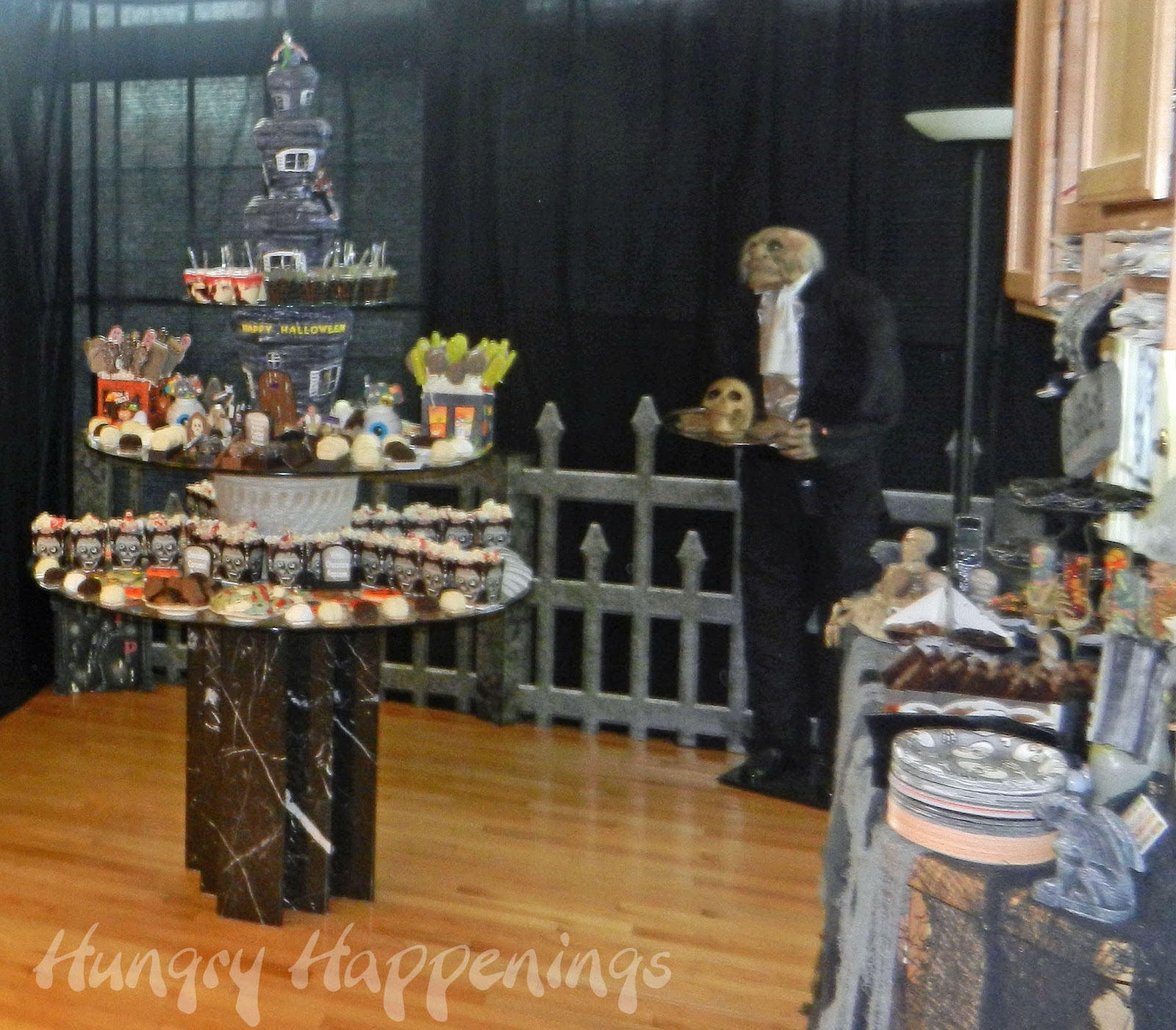 Halloween Dessert Display & Zombie Party - Party Planning Ideas for your Zombie Themed Event