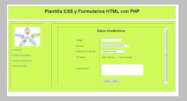Plantilla-CSS-Formulario-Datos-Personales
