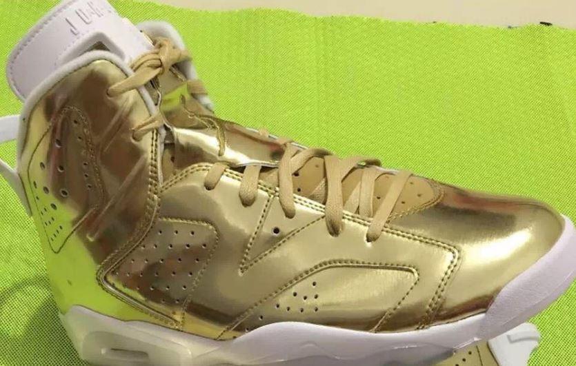 d8d59337d50c Air Jordan Retro 6 Pinnacle Metallic Gold White Sneaker (Images). Here is a look  via ZSZ ...