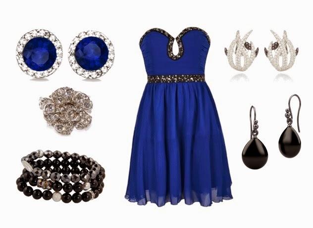 bf2bd4a6e 3) Neutrální šperk - pokud chceme zachovat ráz šatů a zdůraznit geometrický  vzor na sukni, přidáme jednodušší šperk v kovu, který bude ladit ke zbytku  ...