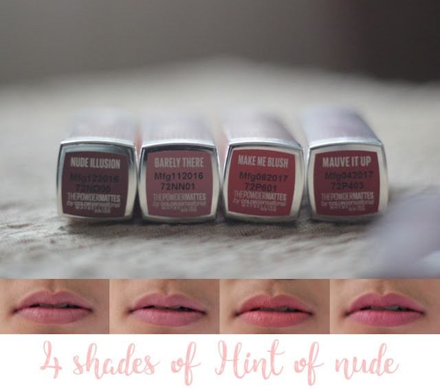 shades maybelline the powder mattes