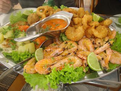Sequência de frutos do mar