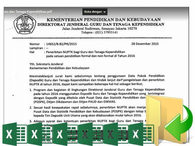Surat Resmi GTK Untuk Pengusulan NUPTK 2016