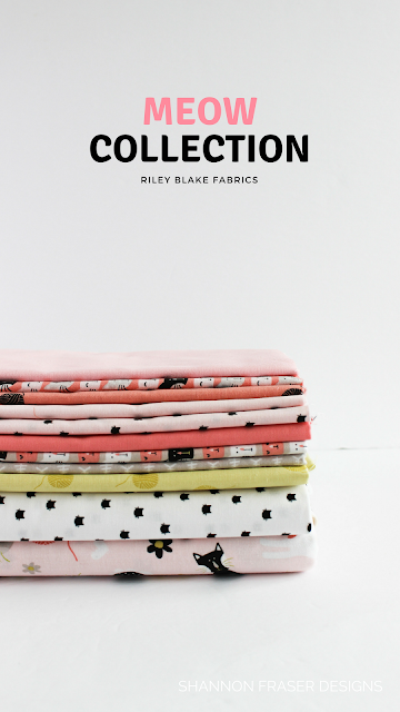 Q2 2018 Finish-A-Long | Shannon Fraser Designs | Meow Fabric Collection | Riley Blake Fabrics