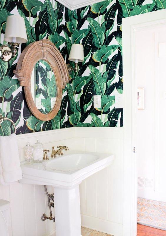http://www.hermanasbolena.com/2016/08/decoracion-papel-pintado-tropical.html