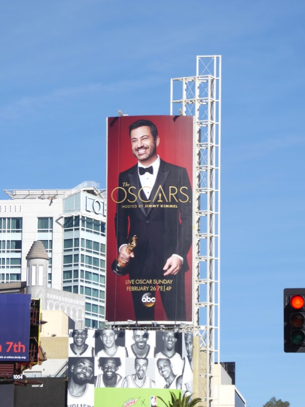 89th Oscars Jimmy Kimmel billboard