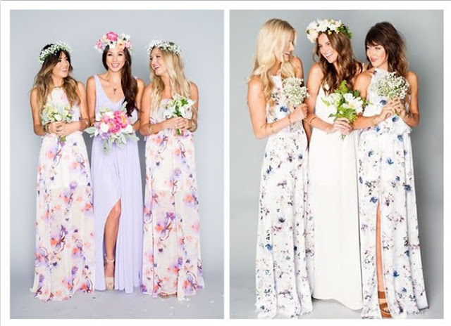 floral print bridesmaid dresses trendy 2017
