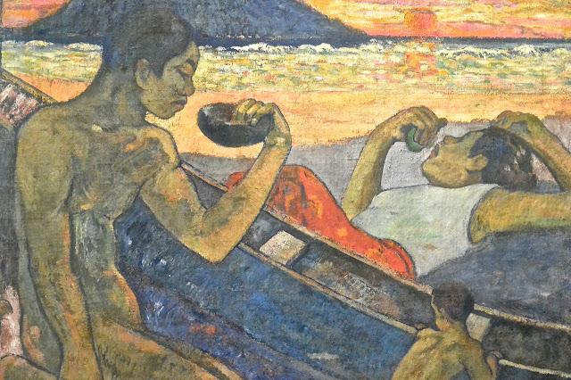 Saint Pétersbourg : musée de l'Ermitage Paul Gauguin : canoé