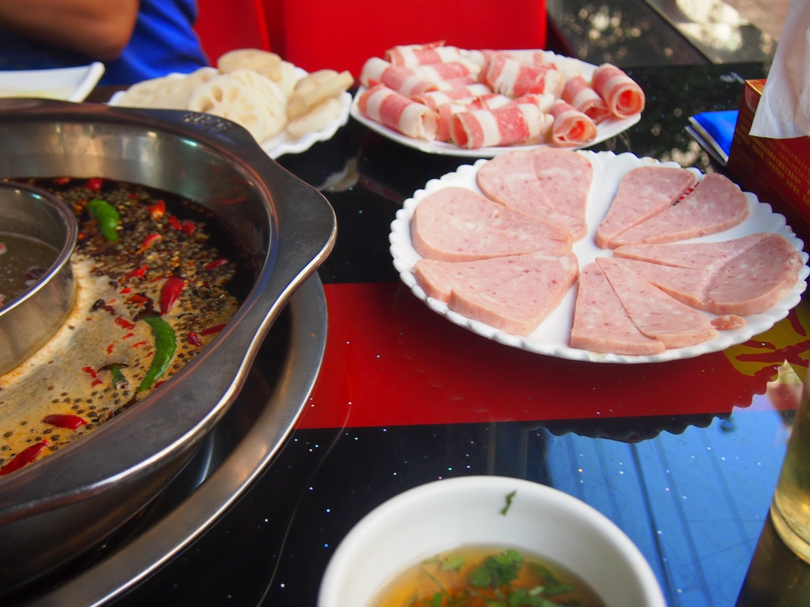 spam and meat for hot pot